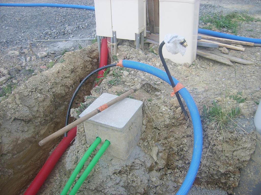 Le terrassement et la viabilisation for Raccordement gaz maison neuve